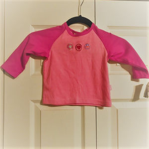 CARTER's Long Sleeve Pink NWT Cotton Crown 2T
